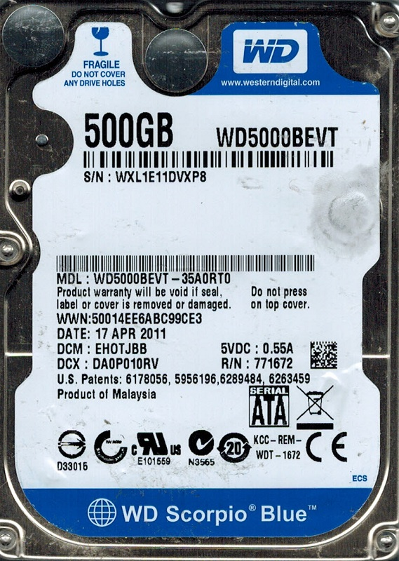Wd500bevt