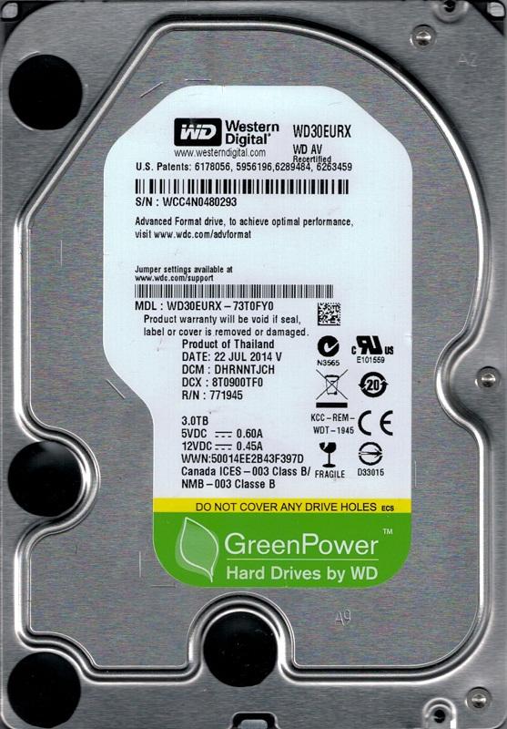 Western Digital 3TB Hard Drive WD30EURX