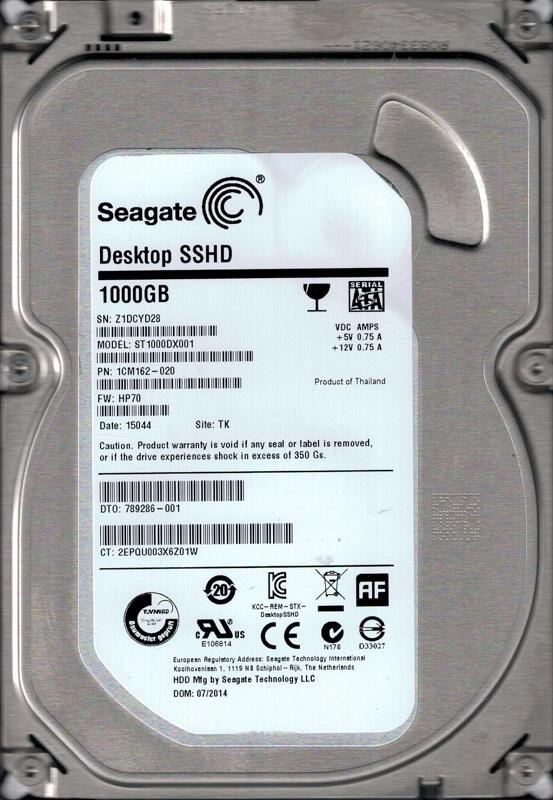 Z1D PN 1CM162-300 TK Seagate 1TB SATA 3.5 Hard Drive ST1000DX001 FW CC43