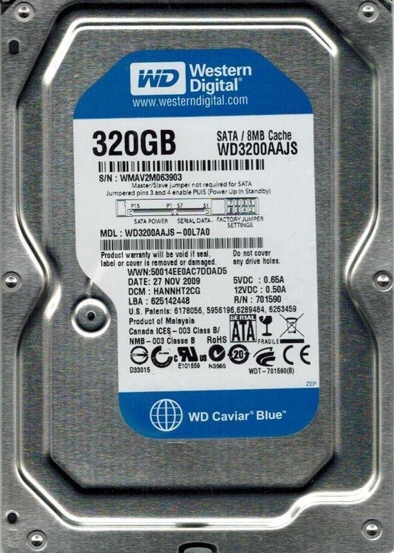 Internal Hard Drive Western Digital WD3200AAKS-75B3A0 320GB