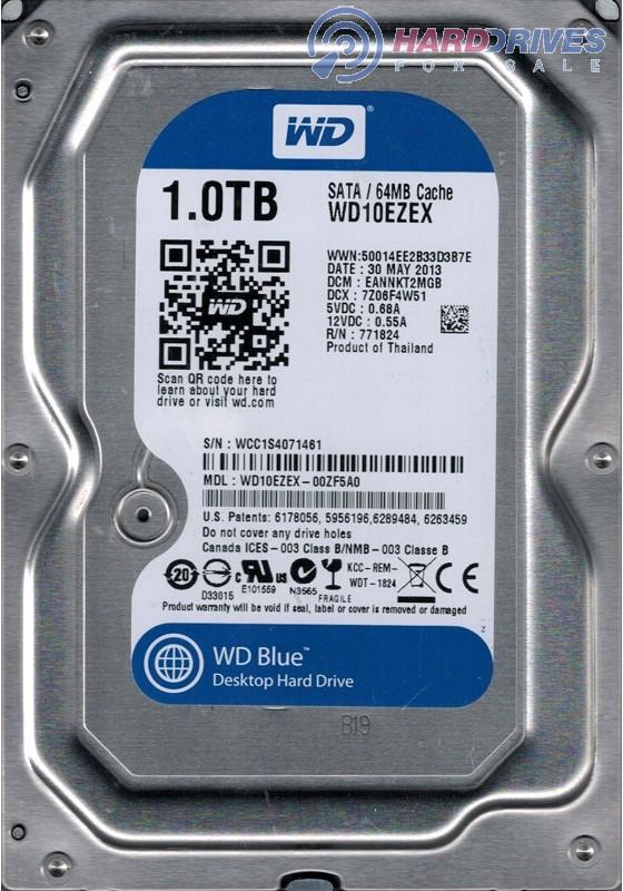 EHRNNV2CGB WCC1S Western Digital 1TB WD10EZEX-00ZF5A0 DCM