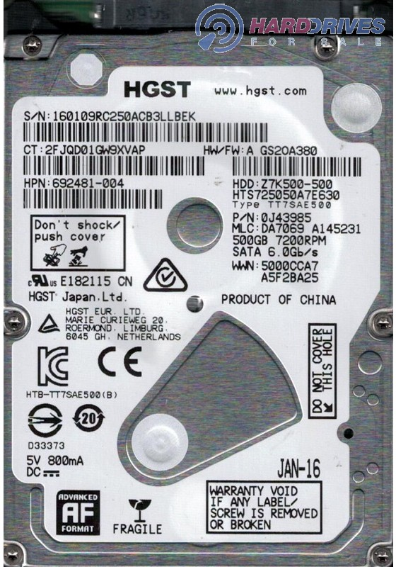 HTS725050A7E630
