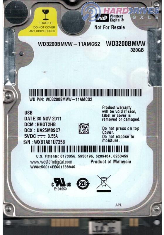 WD3200BMVW-11AMCS2
