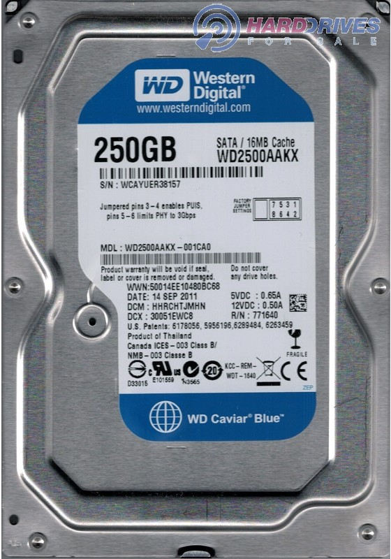 WD2500AAKX-001CA0