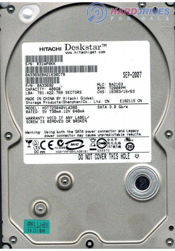 HDT725040VLA380