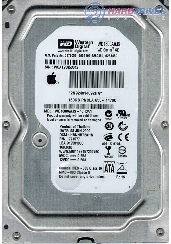 WD1600AAJS-40H3A1