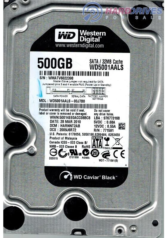 Western Digital WD5001AALS-00J7B0 500GB DCM HBRNNT2CA