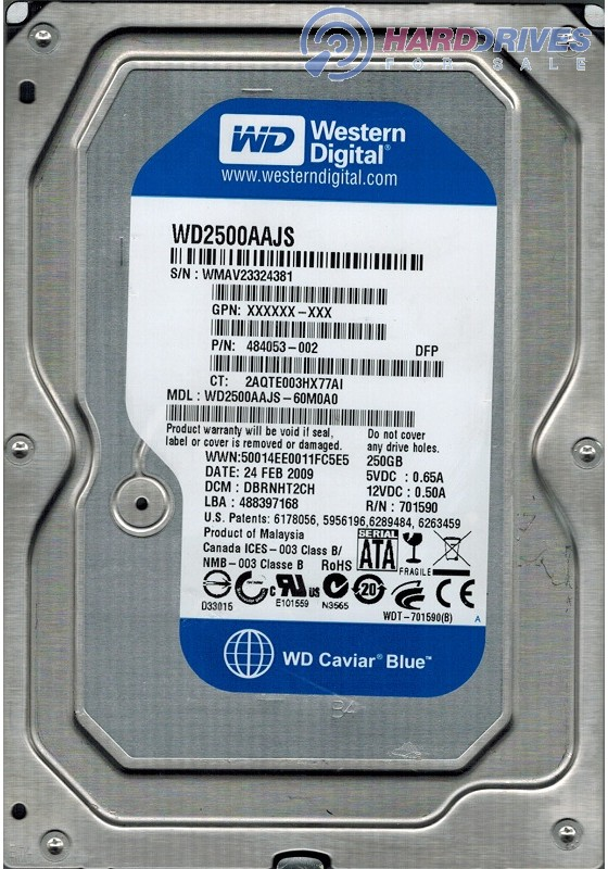 WD2500AAJS-60M0A0