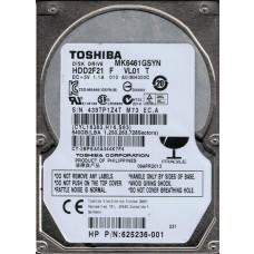 Toshiba MK6461GSYN HDD2F21 F VL01 T F/W: A0/MH000C 500GB