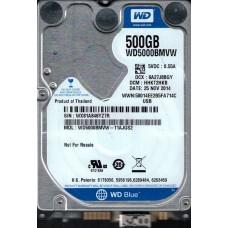 WD5000BMVW-11AJGS2 DCM: HHKT2HKB WX81A Western Digital 500GB