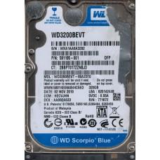 WD3200BEVT-60A23T0 DCM: HECVJHN WXA1A Western Digital 320GB