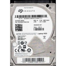 ST2000LM003 P/N: HN-M201RAD/I02 F/W: 2BE10001 Seagate Laptop HDD 2TB