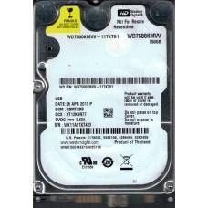 Western Digital WD7500KMVV-11TK7S1 DCM: HBMT2BB 750GB