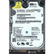 WD7500KMVW-11ZSMS0 DCM: HHMTJBNB WX61A Western Digital 750GB