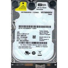 Western Digital WD7500KMVW-11ZSMS1 750GB DCM: HBMTJHN WXC1A USB 3.0