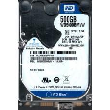 WD5000BMVW-11AJGS4 DCM: EBOT2HN WXN1E Western Digital 500GB