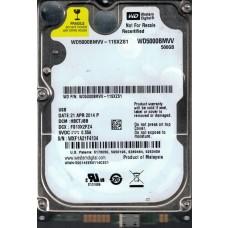 Western Digital WD5000BMVV-11SXZS1 USB 2.0 500GB DCM: HBCTJBB WXF1A