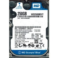 WD2500BEVT-00EGHT0