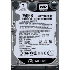 Western Digital WD7500BPKX-00HPJT0 750GB DCM: EA0TJAK