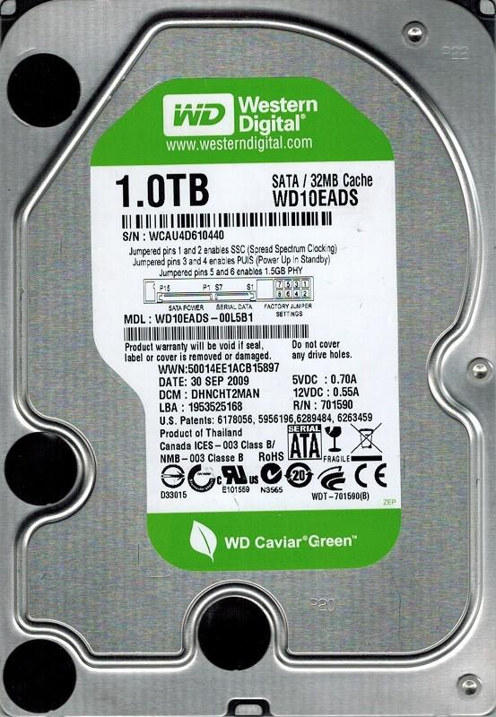 Western Digital WD10EADS-00L5B1 1TB DCM: DHNCHT2MAN