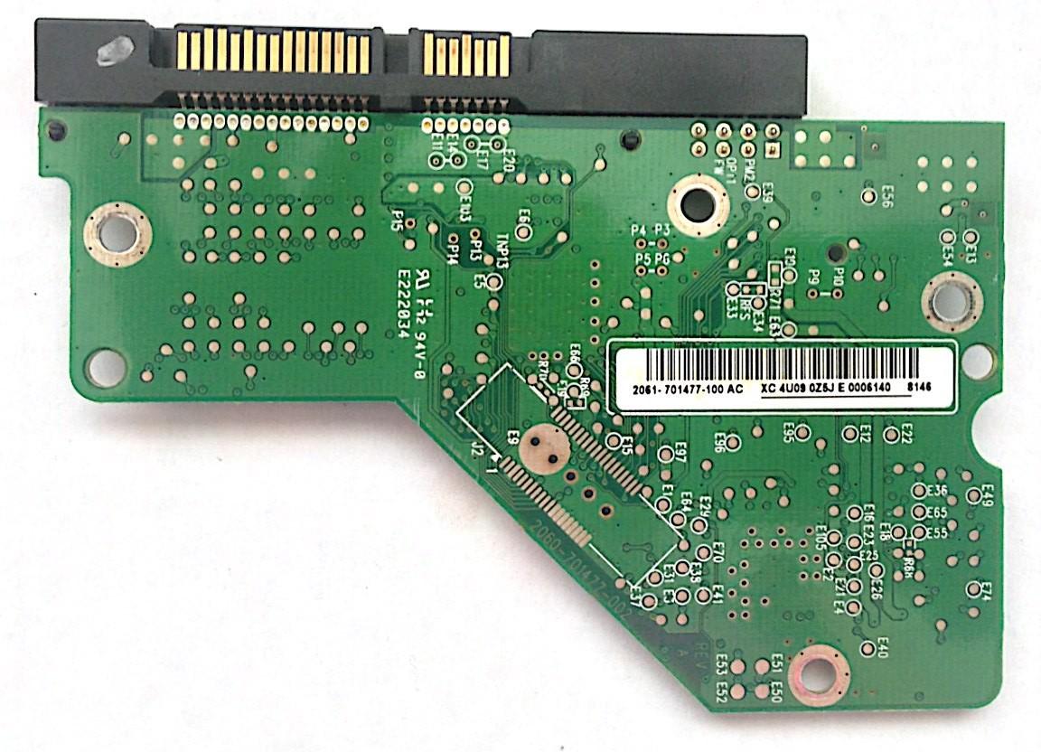 PCB WD4000AAJS-00TKA0 Western Digital 2061-701477-100 AC 400GB