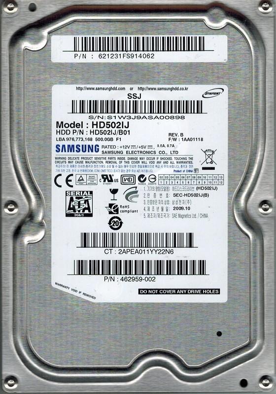 Samsung HD502IJ P/N: 621231FS914062 HD502IJ/B01 500GB