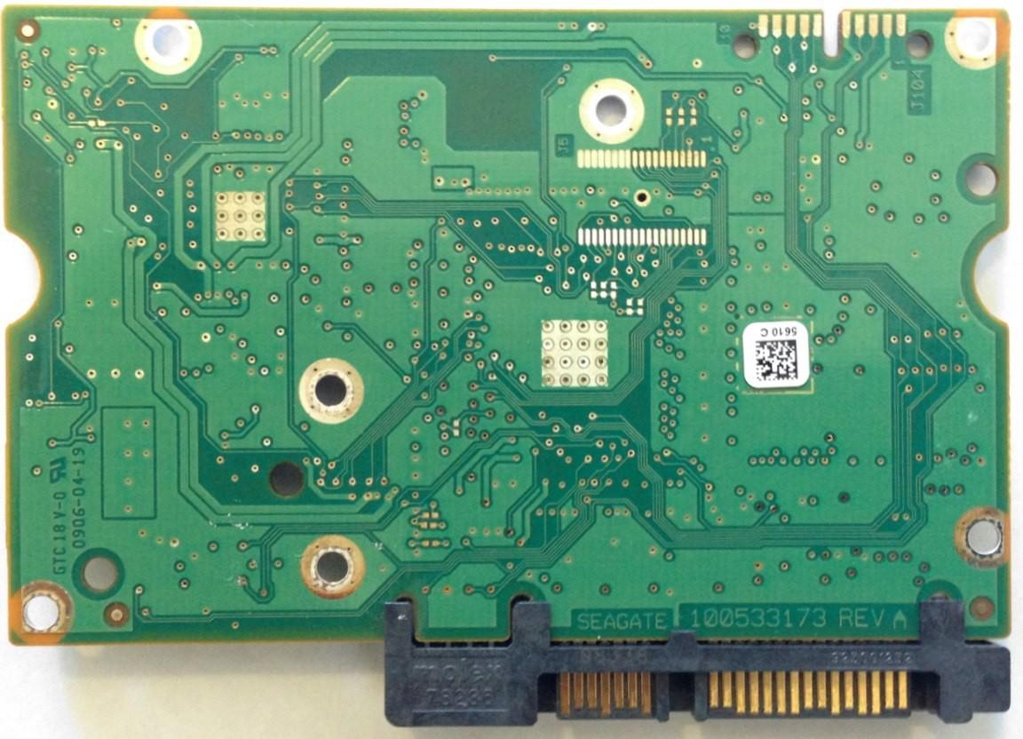 PCB ST3750528AS Seagate P/N:9SL153-621 F/W: HP22 100535537 REV A