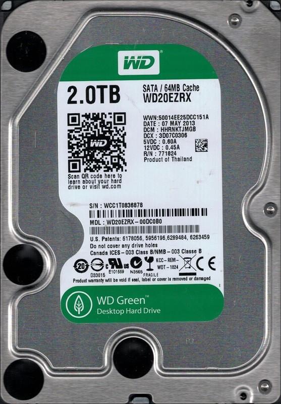 WD20EZRX-00DC0B0 DCM: HHRNKTJMGB WCC1T Western Digital 2TB