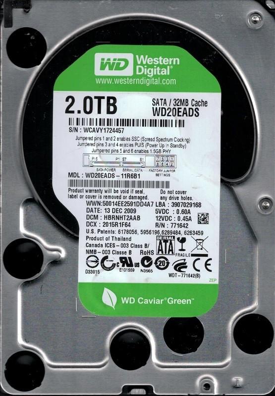 Western Digital WD20EADS-11R6B1 2TB DCM: HBRNHT2AAB
