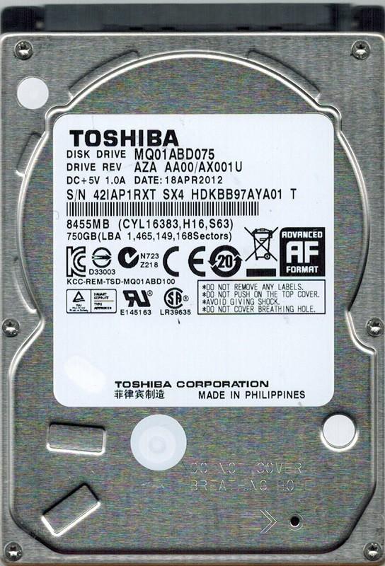 Toshiba MQ01ABD075 750GB AZA AA00/AX001U  PHILIPPINES