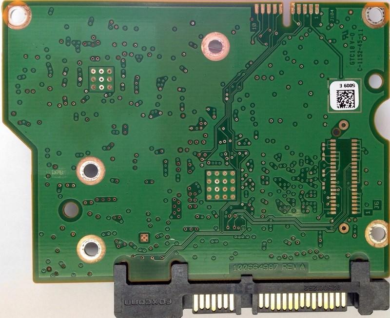 PCB ST3000DM001 100664987 REV A P/N: 9YN166-500 F/W: CC4B Seagate
