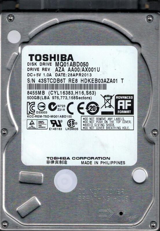 Toshiba MQ01ABD050 500GB AZA AA00/AX001U PHILIPPINES