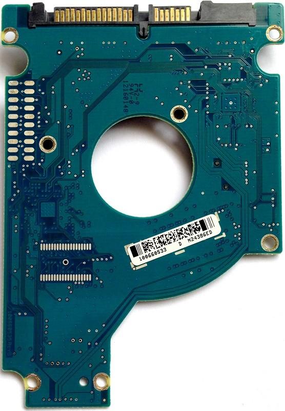 PCB ST9500325AS 100660535 REV B P/N: 9HH134-287 F/W: 0003SDM1 Seagate