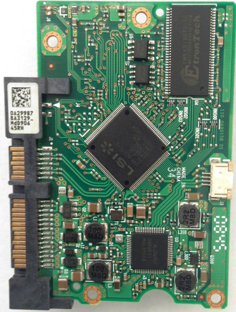 HDT721010SLA360 PCB Hitachi MLC: BA3013 P/N: 0A38016 0A29987 BA3129