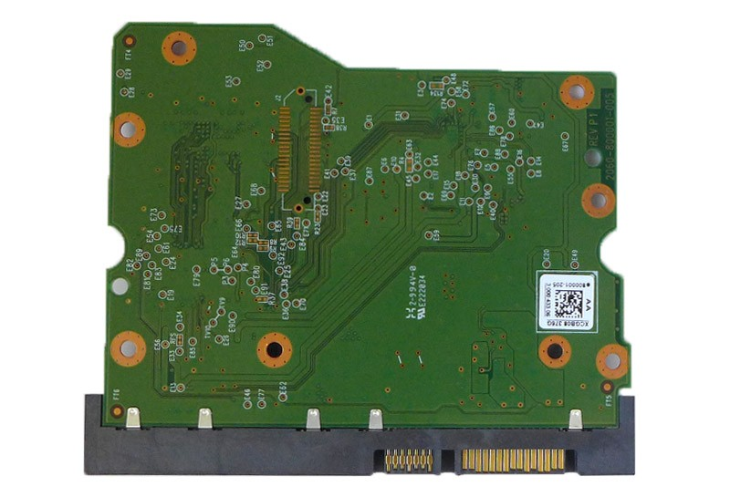 PCB WD60EFRX-68L0BN1 2061-800001-205 AA 6TB Western Digital