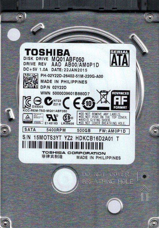 Toshiba MQ01ABF050 500GB AAD AB00/AM0P1D PHILIPPINES