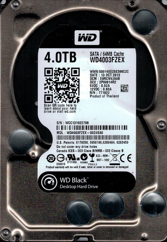 Western Digital WD4003FZEX-00Z4SA0 4TB DCM: EARCNVJAAB