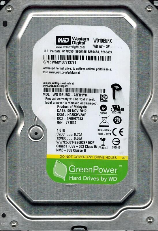 Western Digital WD10EURX-73FH1Y0 1TB DCM: HARCHV2AE