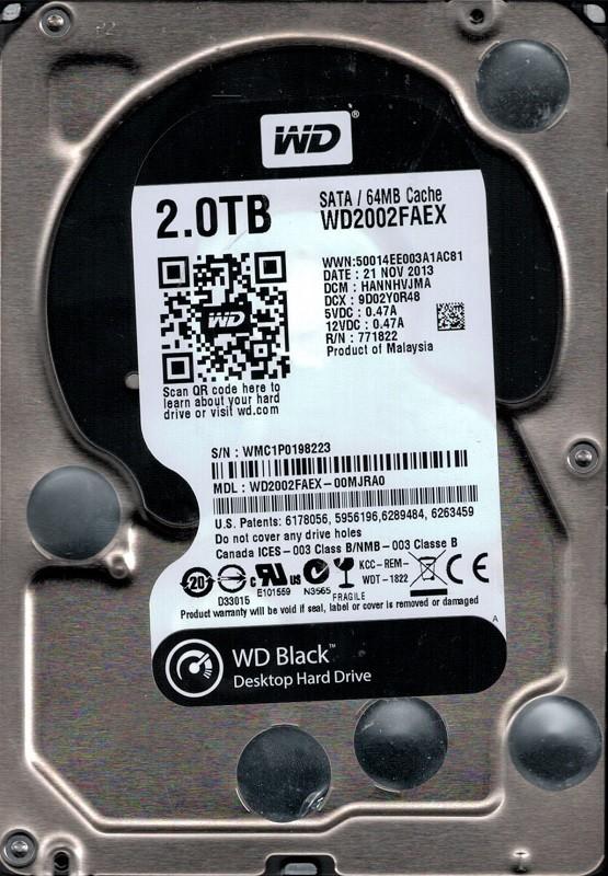 WD2002FAEX-00MJRA0 DCM: HANNHVJMA Western Digital 2TB