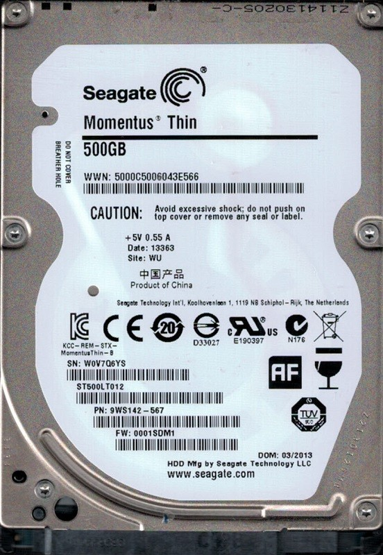 Seagate ST500LT012 P//N 9WS142-020 F//W 0001YAM1 500GB WU