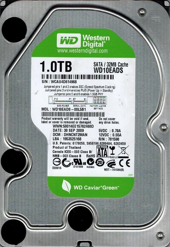 Western Digital WD10EADS-00L5B1 1TB DCM: DHNCNT2MAN