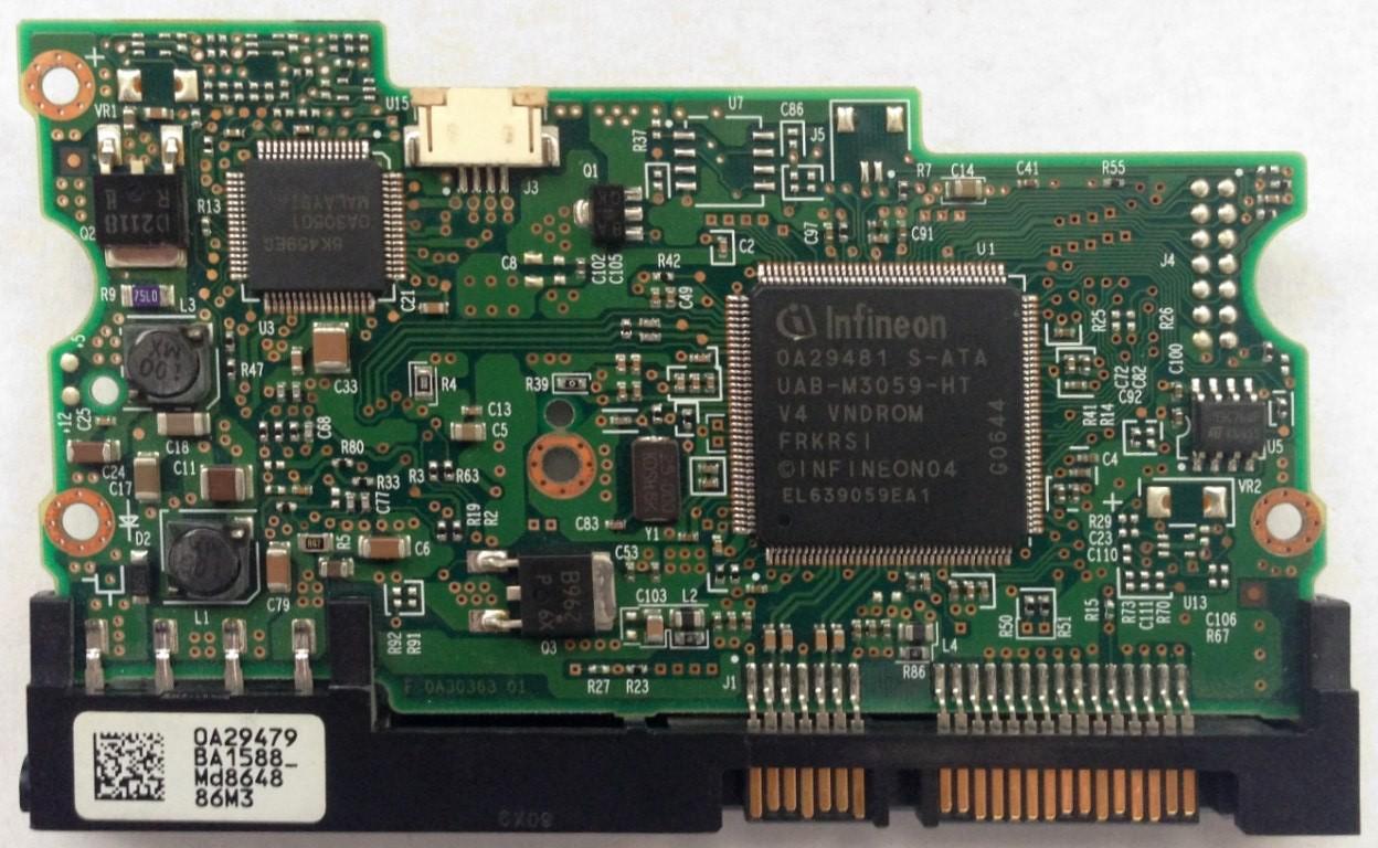 PCB HDT722516DLA380 0A29479 BA1588 P/N: 0A32553 MLC: BA1867 Hitachi