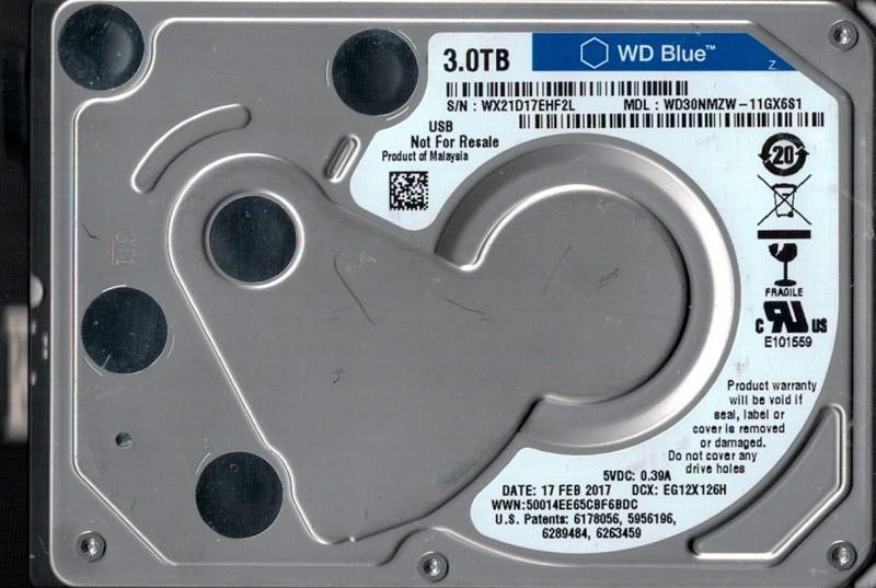 """WD30NMZW-11GX6S1 USB 3.0 Western Digital 3TB 2.5"""" HDD"""
