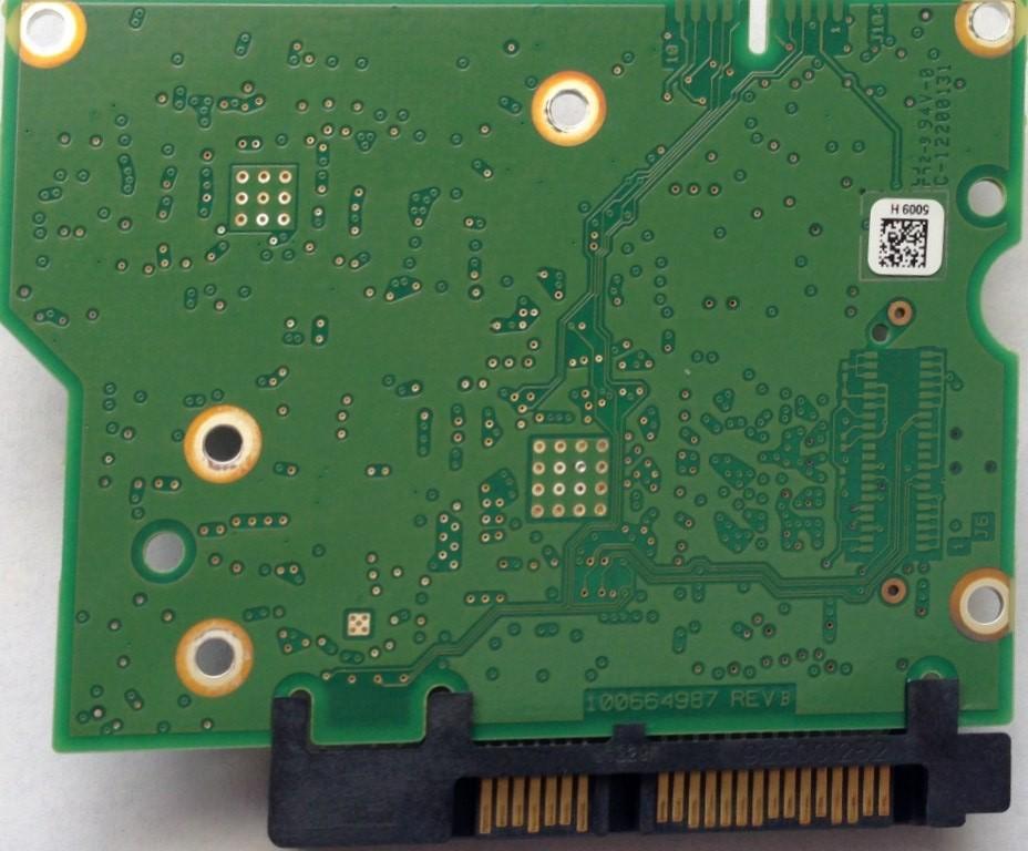 PCB ST3000DM001 100664987 REV B P/N: 9YN166-570 F/W: CC9F Seagate