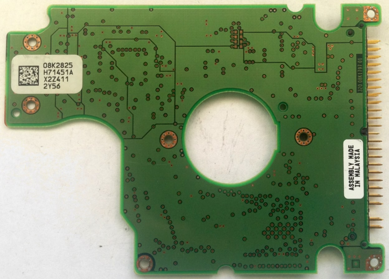 PCB HTS548040M9AT00 08K2825 H71451A MLC: H69553 P/N: 08K0856 Hitachi