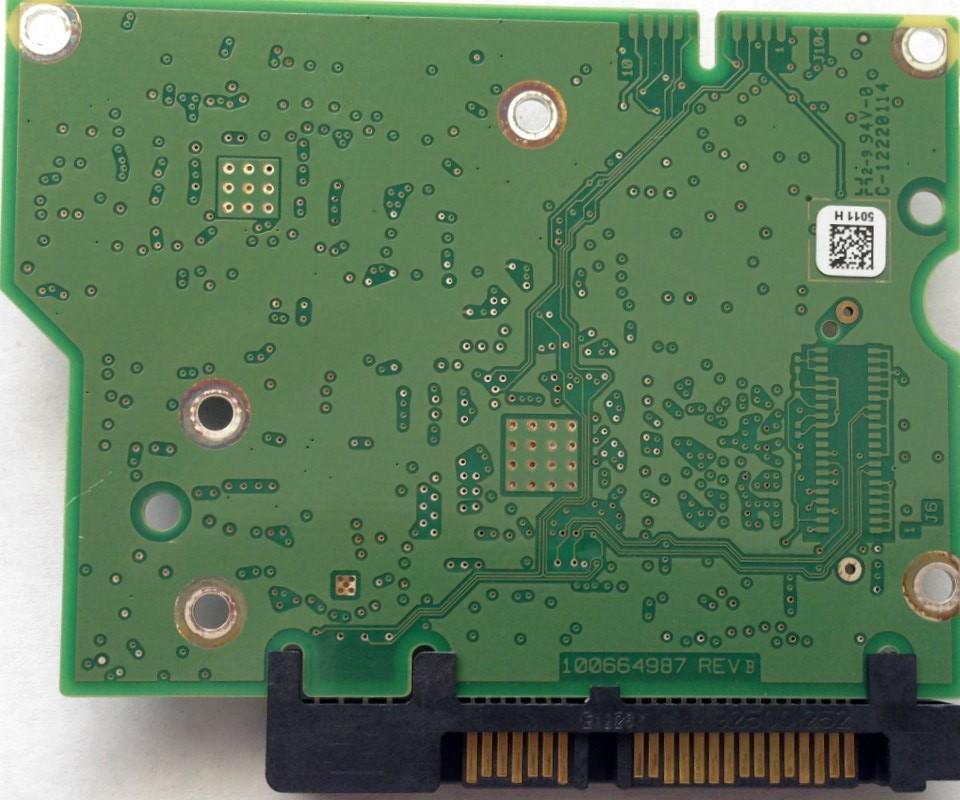 PCB ST2000DM001 100664987 REV B P/N: 9YN164-306 F/W: CC4H Seagate