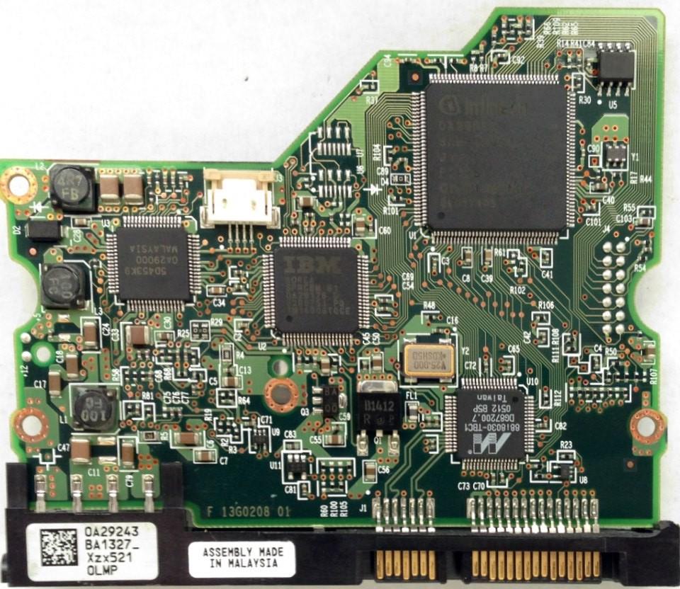 PCB HDS722516VLSA80 0A29243 BA1327 P/N: 13G0254 MLC: BA1254 Hitachi
