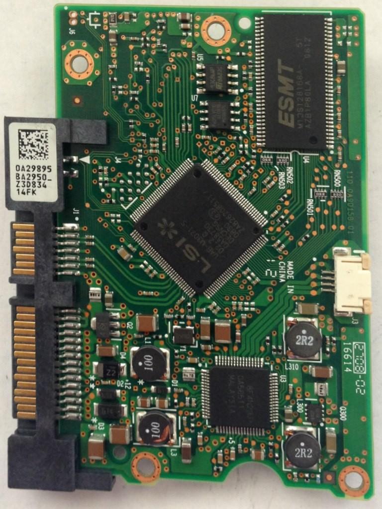 PCB HDT721075SLA360 0A29895 BA2950 P/N: 0A38115 MLC: BA3013 Hitachi