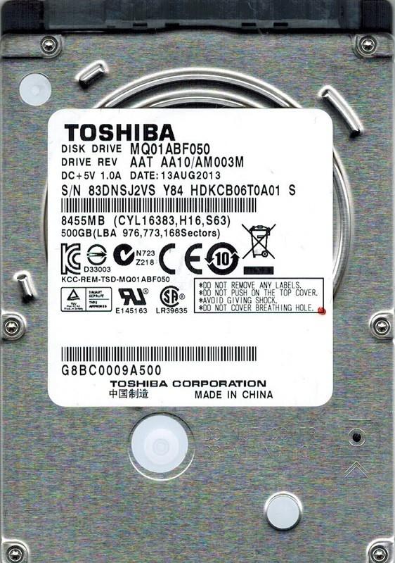 Toshiba MQ01ABF050 500GB AAD AB00//AM0P1D PHILIPPINES