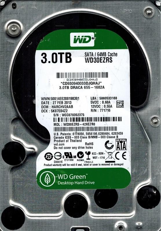 Western Digital WD30EZRS-42KEZB0 3TB DCM: HARCHV2AAB